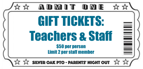 Gift Tickets: Teachers & Staff - PNO